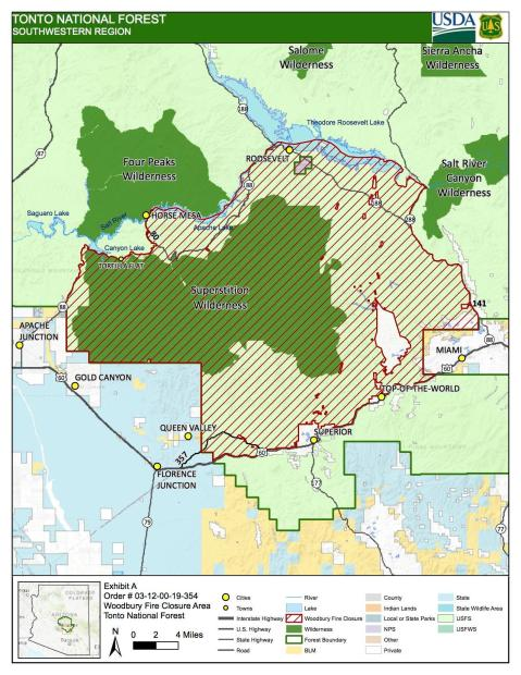 Tonto National Forest Closure Update - June 22