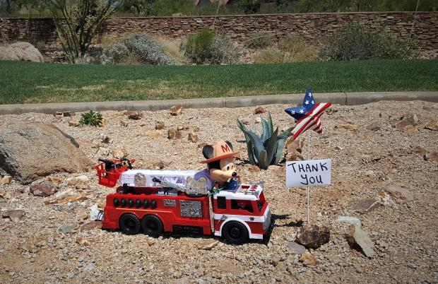 Thank You Display near Gold Canyon ICP
