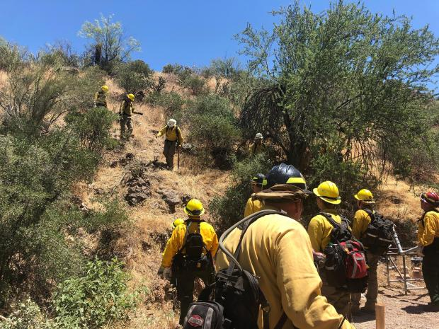 Structure Protection at Tortilla Flat - June 18
