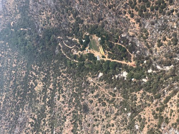 Reevis Mountain School from Air