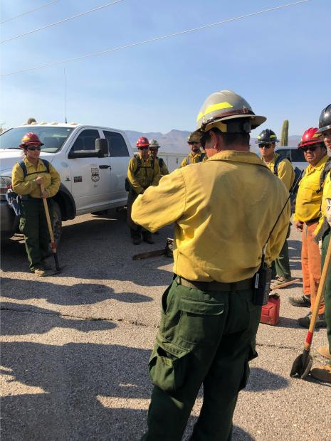 Firefighters at Tonto National Monument - June 19_2