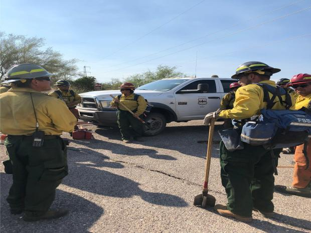 Firefighters at Tonto National Monument - June 19