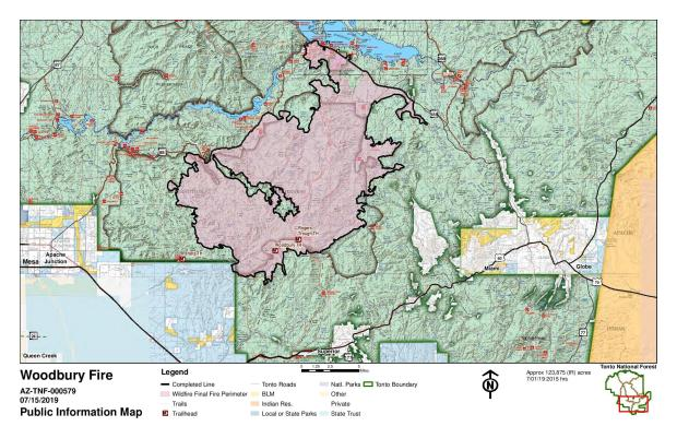 Map Of Arizona Border.Woodbury Fire Maps Inciweb The Incident Information System