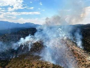 Overflight images of the Middle Fire