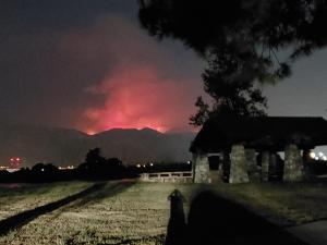 Ranch2 Fire seen from Incident base 8/14/2020