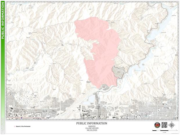 GIS Map of Ranch2 Fire Public