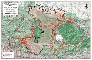 Bobcat Fire Public Information Map 9/26/20