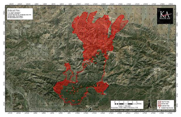 Infrared Fire Perimeter Ortho Map 9/19/20
