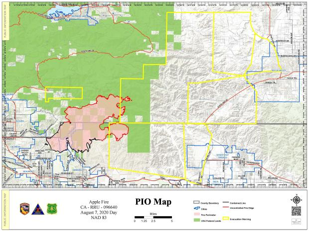 Apple Fire PIO Map for Aug. 7 revised