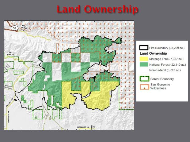 JPG Map Showing Land Ownership for the Apple Fire