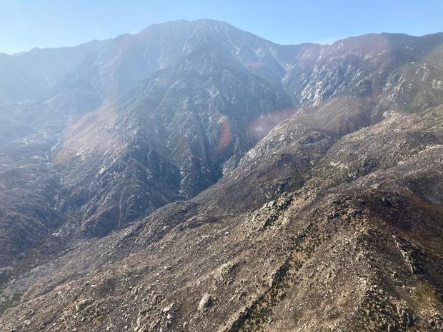 Photo Showing Snow Burned Area