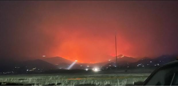 Helicopter night operations on the French Fire.