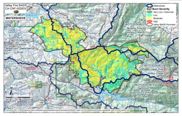 Image showing Valley Hydrologic Units Map