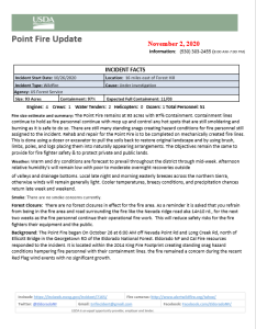 Point Fire Update