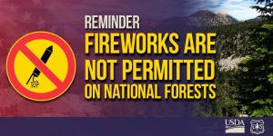Fireworks are never permitted on National Forest Lands