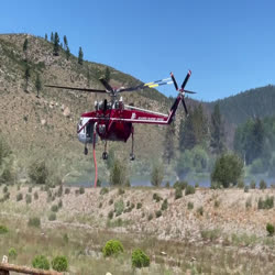 video of crane helicopter