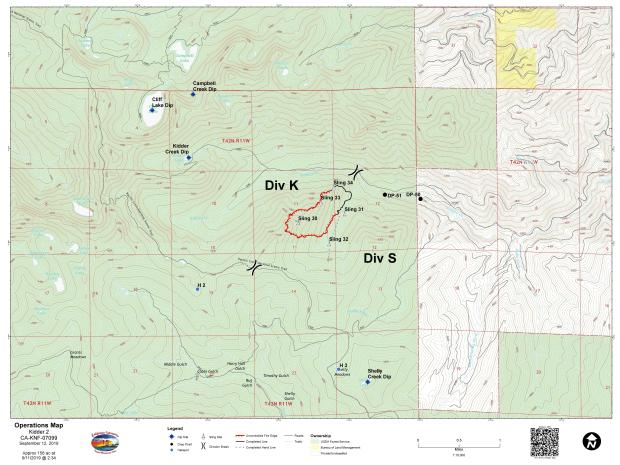 Lime Fire Operations Map for Sept. 12, 2019