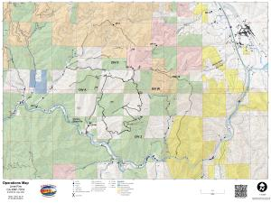 Lime Fire Operations Map for September 16, 2019