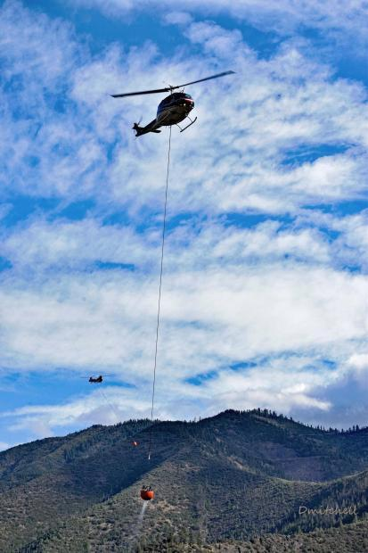 Helicopters over the Lime Fire