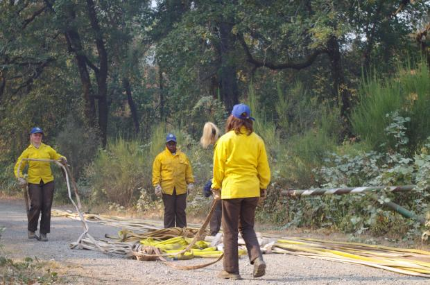 Hose rolling by California Conservation Corp. on 9/21/20