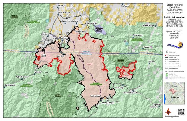 Slater and Devil Fires Public Map 10-5-20
