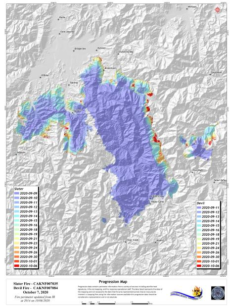 Fire footprint over time