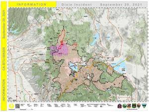 PIO map for Dixie Fire for 9-20-2021