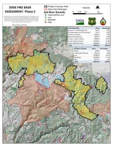 JPG Map showing Dixie Phase 2 Soil Burn Severity areas