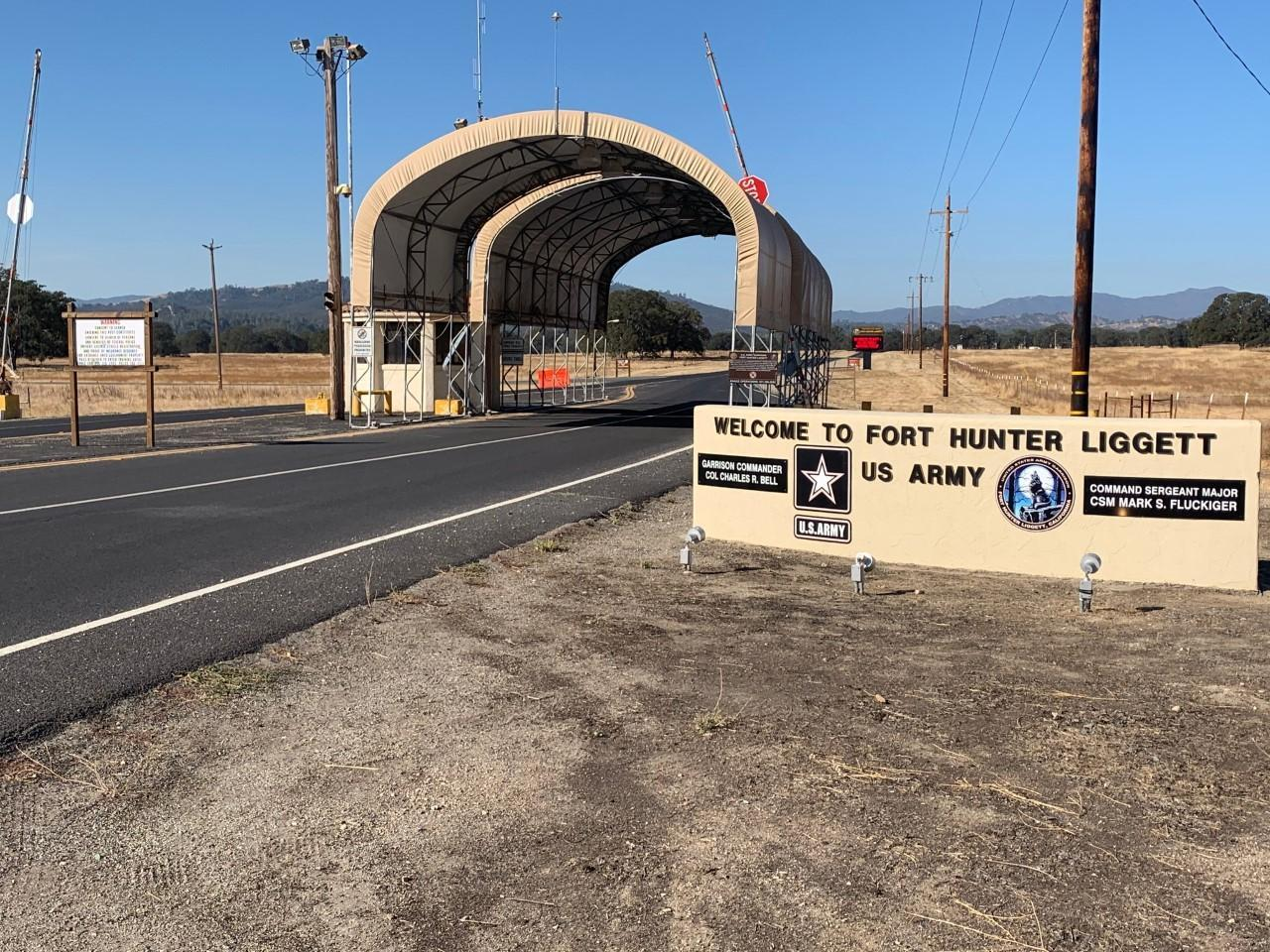 Entrance to military base.