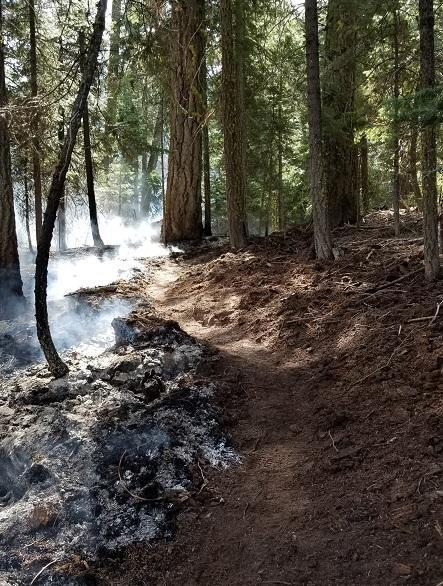 Fire line holds fire, keeping it within a desired area.