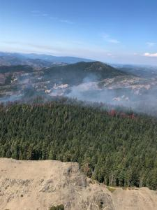 Taken during a flight over the fire area