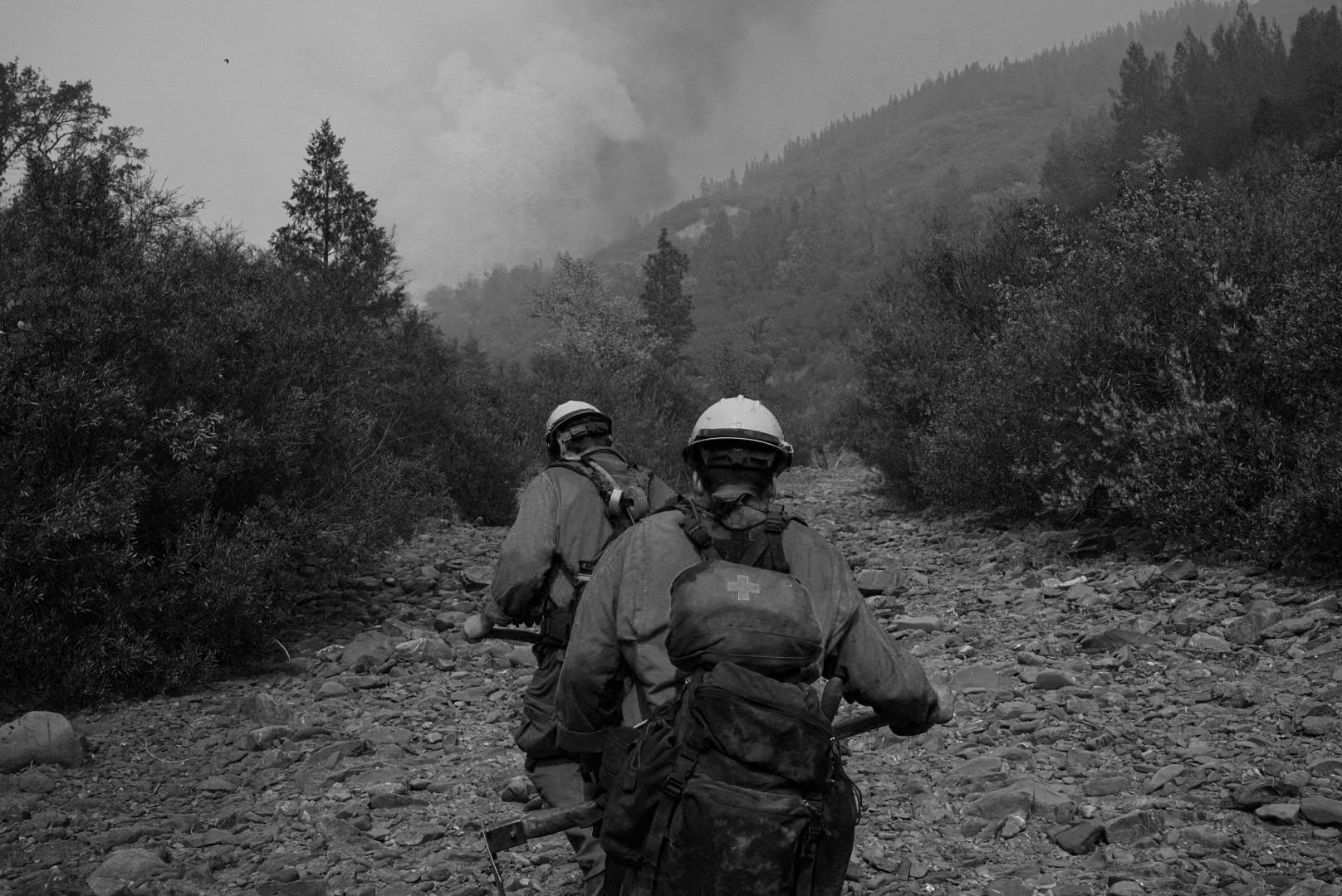 Firefighters on the August Complex South Zone Sept. 21