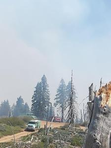 Mendocino NF, Modoc NF and Colorado equipment working on the Hull Fire
