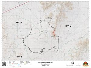Dome Fire Ops Map Aug. 22, 2020