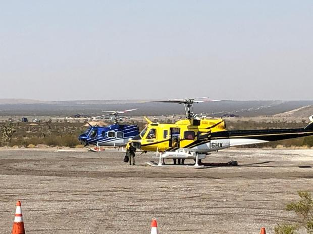 Helicopters at Cima Helispot Aug. 18