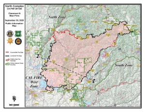North Complex Fire Information Map 9-30-2020