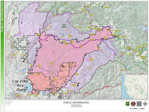 North Complex Fire - Current