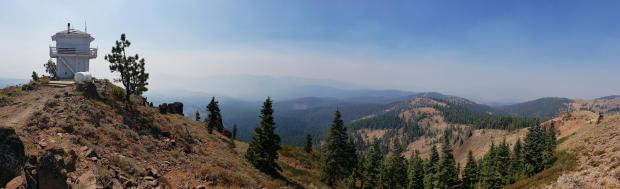 Panarama of Sheep Fire Area from Red Rock Lookout