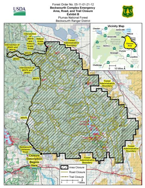 Plumas National Forest Closure Order - 7/9/21