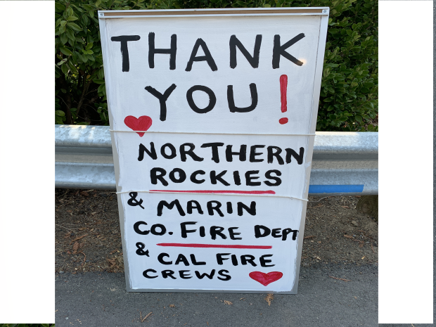Woodward Fire - Thank You Sign