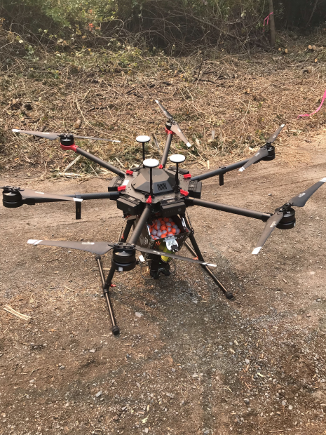 Woodward Fire - UAS (drone) with PSD (sphere) launcher