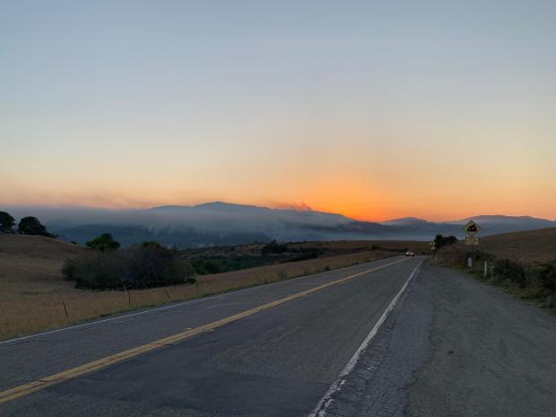 Sunset over the Woodward Fire