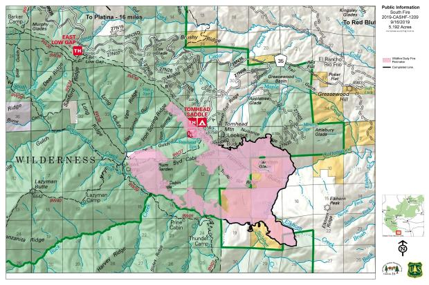 South Fire PIO MAp 09-16-19