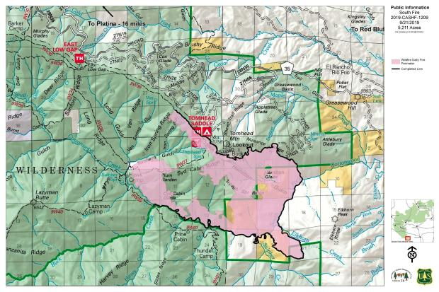 South Fire PIO Map 09-21-19