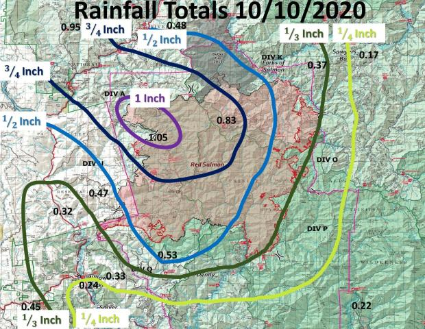 Red Salmon Complex Rainfall Map