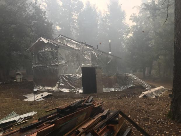 10.10.2020 Structure Wrapping N-NE side of Fire
