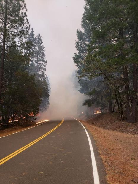 image of Hopkins Fire near Mad River Ranger District 9.9.2020
