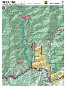 Map of the Hobo Fire as of 9/6/2020