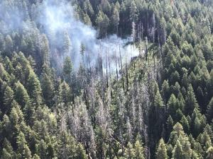 Waldorf Fire from aerial recon, May 16
