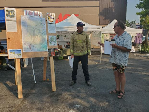 Lava Fire Information Booth